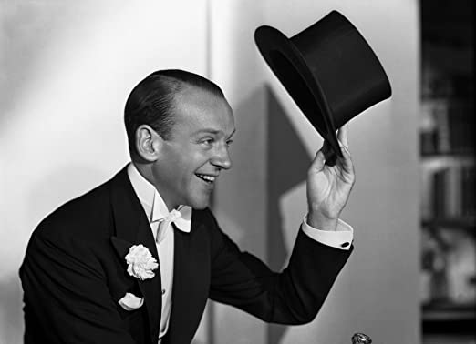 Amazon.com: Posterazzi Fred Astaire Tipping Black Top Hat Off ...