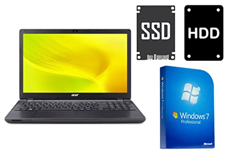 Acer 2508 ~ 128 GB SSD + 500 GB ~ 8 GB Memoria ~ Windows 7 Prof ...