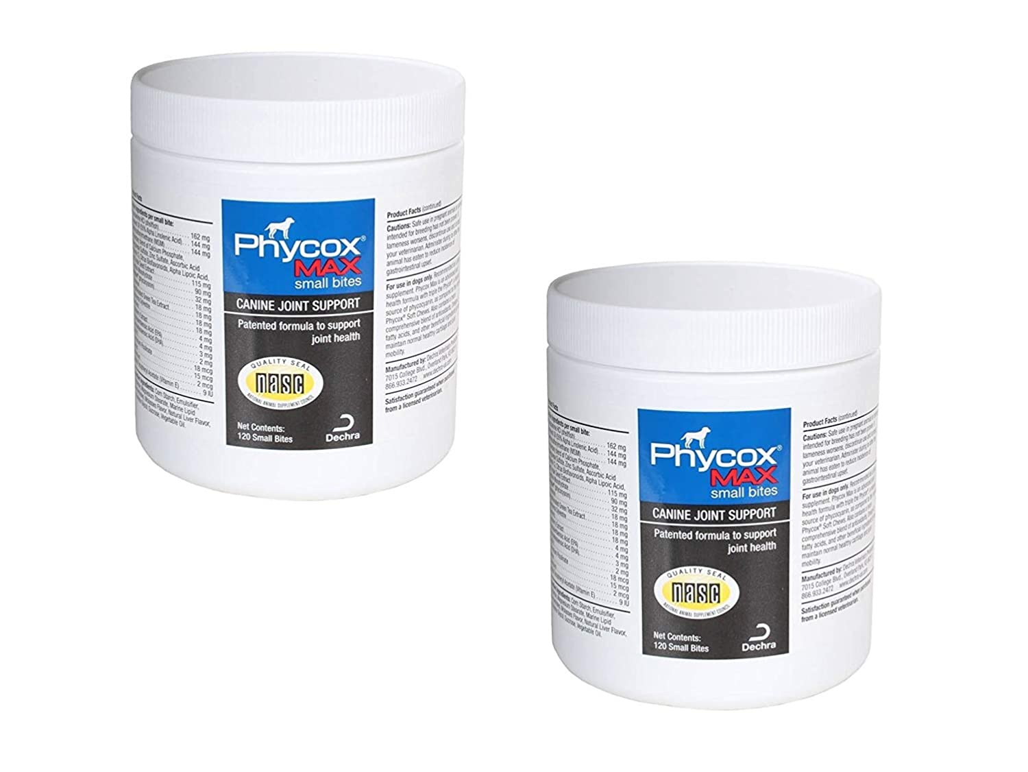 PhyCox Max Soft Chews for Dogs, 120- Small Bites