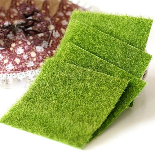 dezirZJjx Mini Micro Landscape,4Pcs Green Lawn Miniature Garden