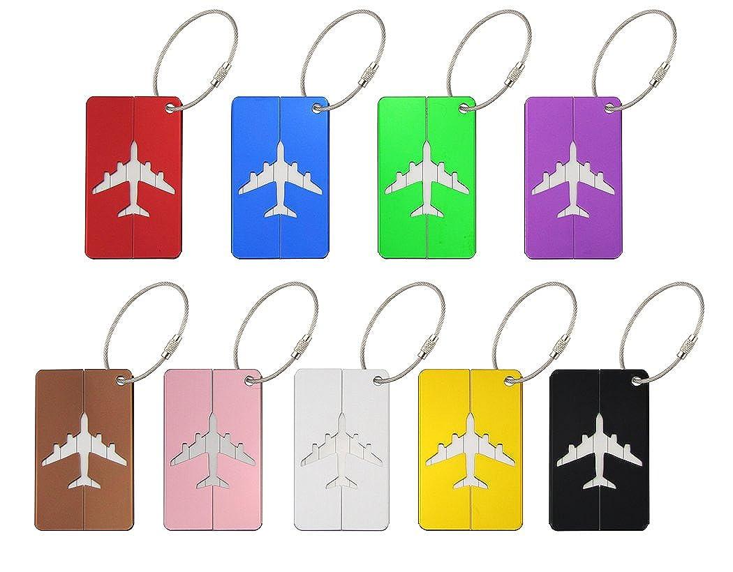 旅行荷物タグスーツケース荷物バッグタグ、旅行IDバッグタグ9パック   B01KXUBOFQ
