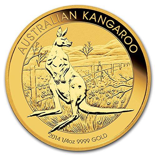 - 2014 P Perth Mint Australia 1/4 oz Gold Kangaroo $25 Seller Brilliant Uncirculated