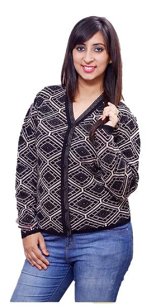 7ab75d6344d6 L.C. Oswal Hosiery Women s Wollen Sweater(LC 5 XL Black X-Large ...
