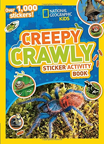 National Geographic Kids Creepy Crawly Sticker Activity Book: Over 1,000 Stickers! (NG Sticker Activity Books) (Spider Creepy Crawly)
