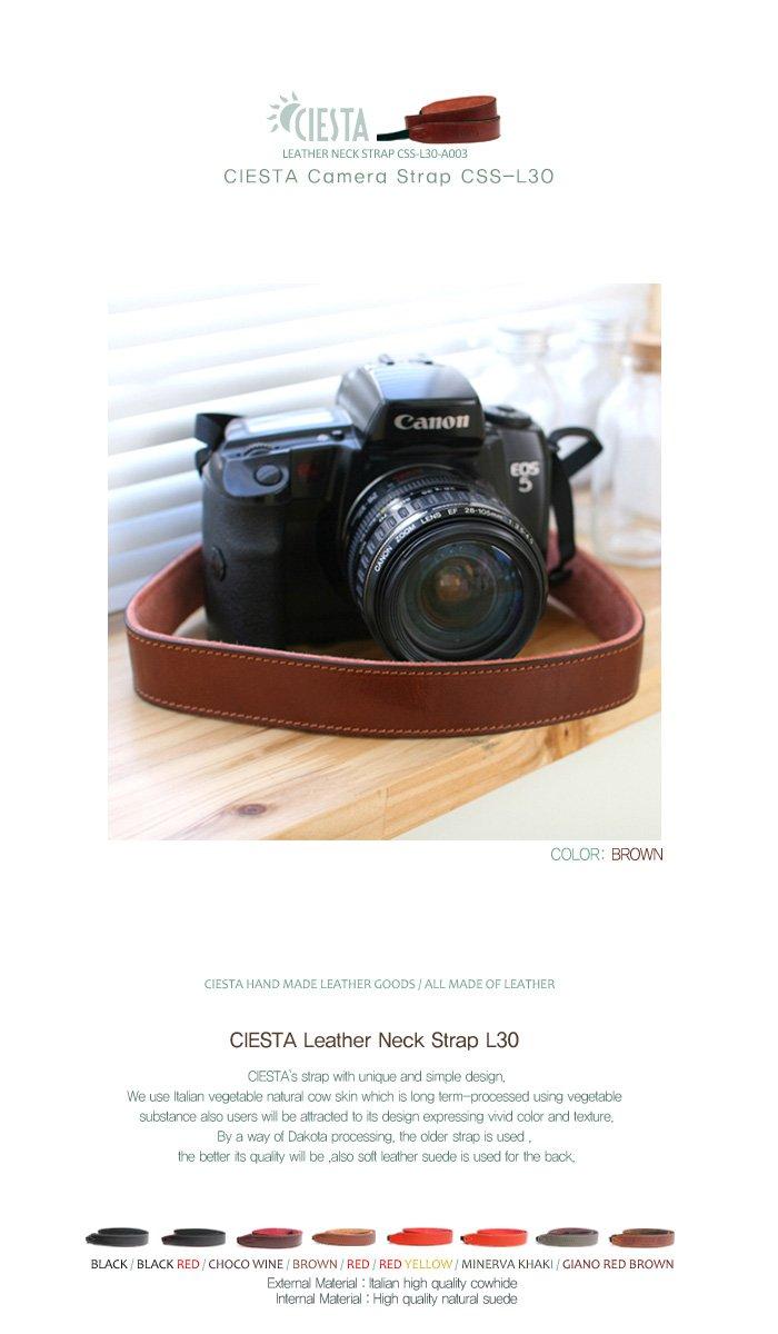 Ciesta css-l30-a03 piel cámara correa L30 (marrón) para juguete ...