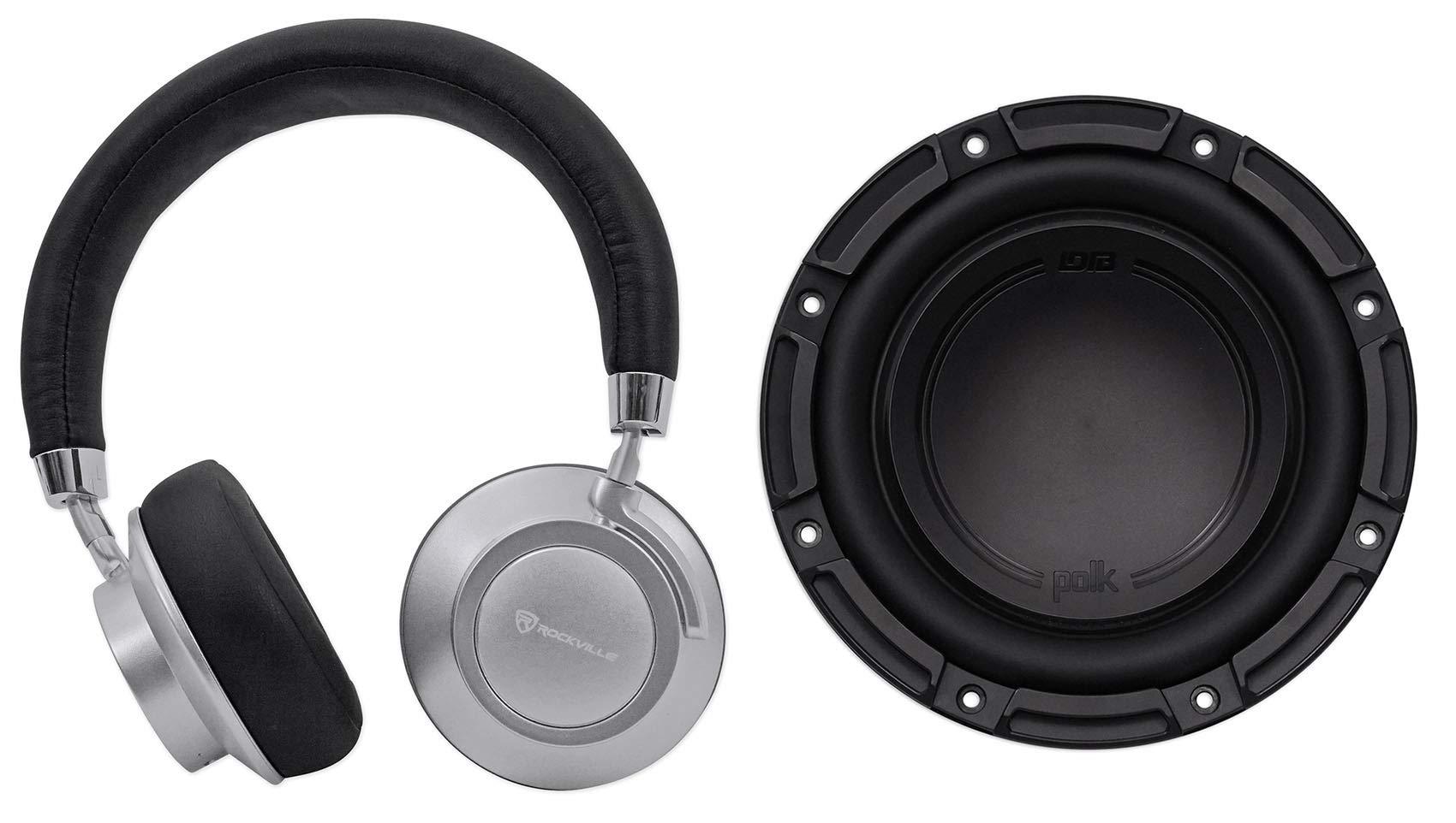 Polk Audio DB842SVC 8 750 Watt Car/Marine Boat Audio Subwoofer Sub+Headphones