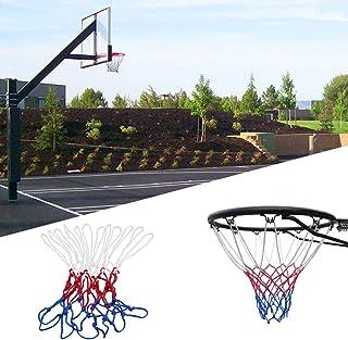 Ruiting Neuf Bleu Blanc Rouge Basket en Nylon Goal Jante en Maille Filet Sports