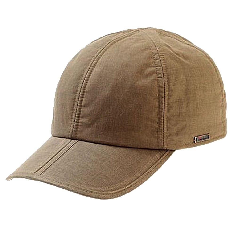 Wigens Viktor Wax Cotton Fold-Peak Baseball Cap-Camel-XL