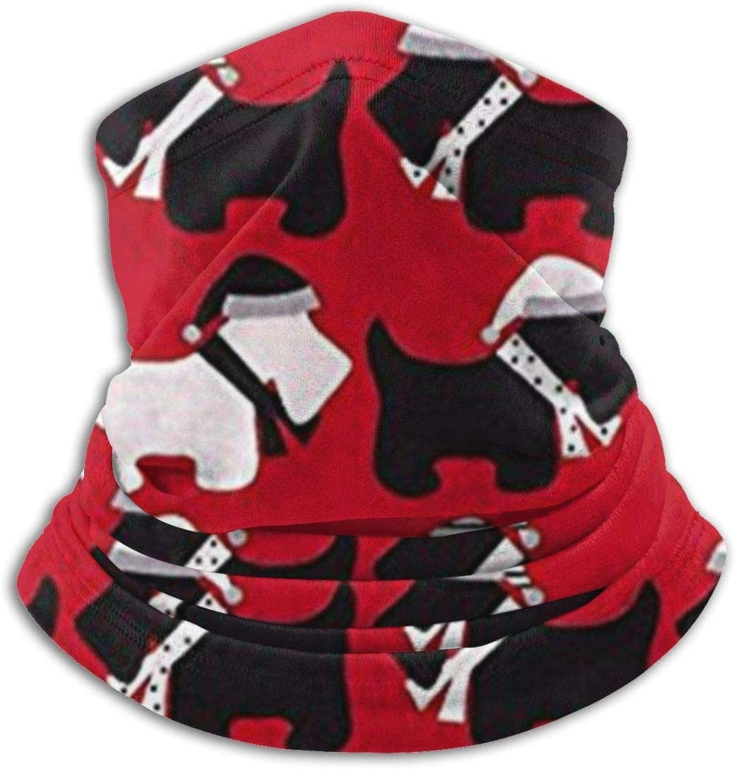 congminbai Schlauchschal Herren,Halsw/ärmer Warm Scottie Dogs Red Stretchy Cap Men Unisex Winter Thicken Polar Neck Warmer Face Mask Windproof Hood Cover Scarf and Shawl Windproof