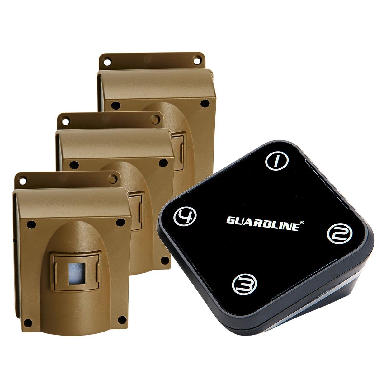 ワイヤレスDrivewayアラームW / 3つセンサーキット。トップ定格アウトドア防水型モーションセンサー/ detector- Best DIY WiFiセキュリティアラートsystem-保護ホーム、周長、庭、ガレージ、ゲート、プール B0711SQ42K
