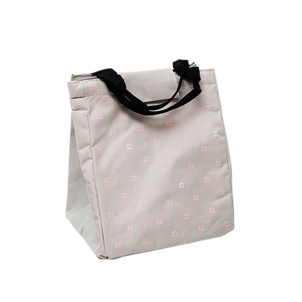A Finebo Bo/îte /à Lunch Bag Sac Repas Lunch Bag Sac /à D/éjeuner Sac Fra/îcheur Portable Toile Isotherme Simple Tote