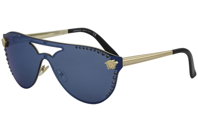 e445ac7e3c Versace GLAM MEDUSA VE 2161B PALE GOLD DARK BLUE women Sunglasses   Amazon.com.au  Fashion
