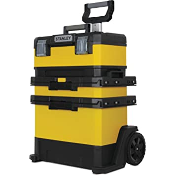Advanced Stanley Rolling Metal y plástico taller caja de herramientas con ruedas amarillo [unidades de 1]--: Amazon.es: Bricolaje y herramientas