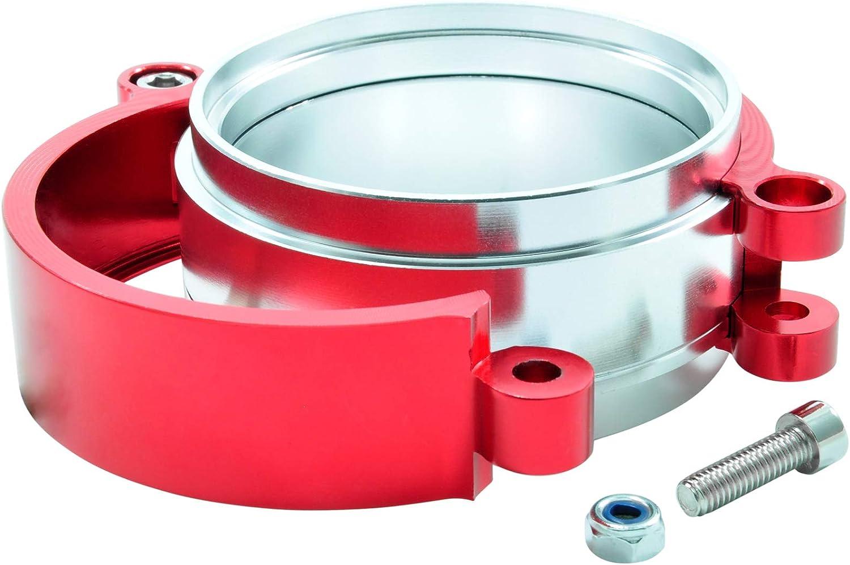 HD-Schelle 76mm Rot 3 Zoll Aluminium Schnellverschluss Ladedruck Ladeluft Rohr Alu