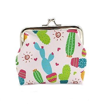 Cartera Elegante para Mujer Cactus Snacks Bolsa Cerrojo Monedero Minimalista Monederos Bolsa Titular de la Llave Accesorio - 1#: Amazon.es: Equipaje