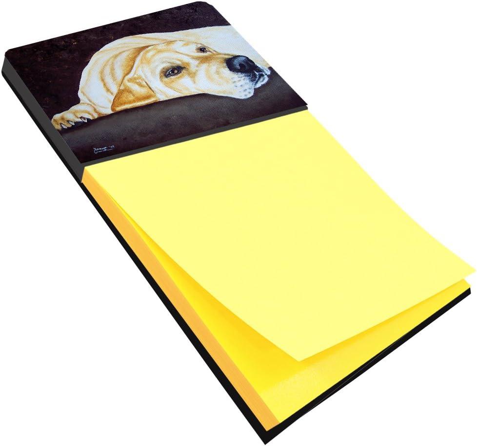 Caroline's Treasures AMB1072SN Naptime Yellow Labrador Sticky Note Holder, Large, Multicolor