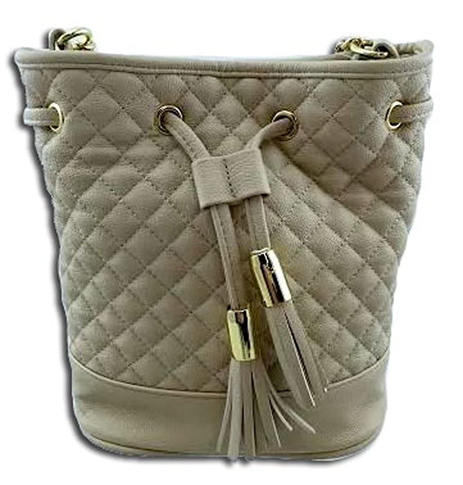 a750458e03 Steve Madden BBenson Drawstring Faux Leather Quilted Cream Bag:  Amazon.co.uk: Shoes & Bags