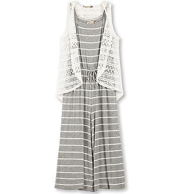 80efd0b19e8 Amazon.com  Speechless Girls  Big 2 Piece Hodded Rib Knit Cropped Jumpsuit   Clothing
