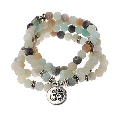 xizang Mala Amazonita 108 Cuentas Collar para Yoga Budista ...