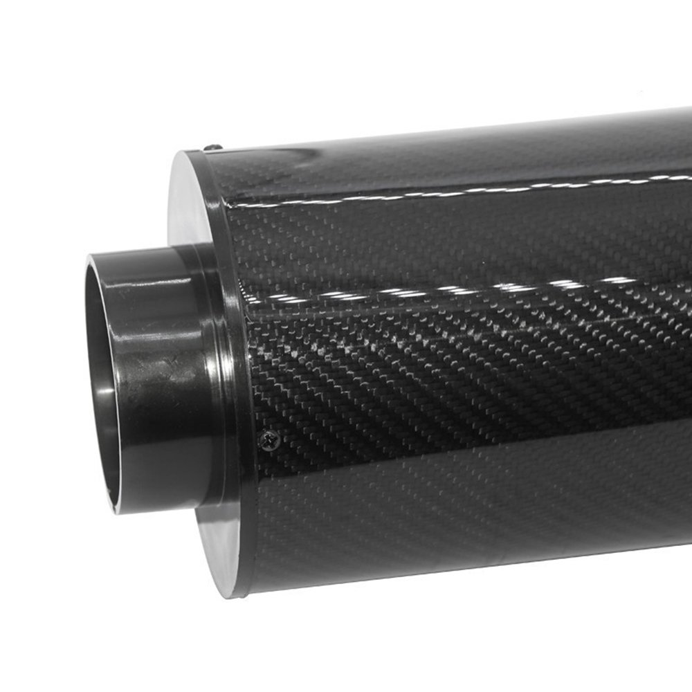 Allright Sportluftfilter Universal Auto Luftfilter 2,7 Zoll Ansaugfilter Carbon Dynamic Airbox