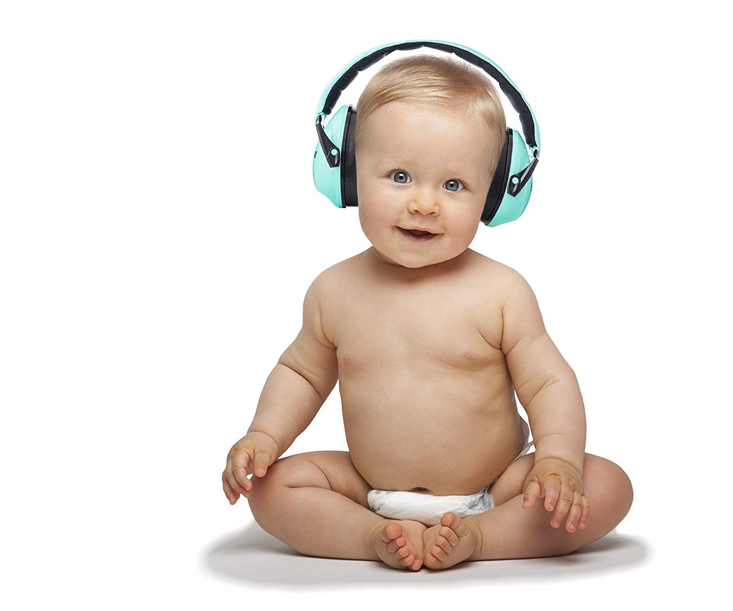 Premium Baby Ear Muffs by Exceedbuy -Unisex Hearing Protection Noise Cancelling Headphones from 12 Months Toddler Boys & Girls up to 12 Years -Travel Bag and 2 Pairs of Baby Ear Plugs Included