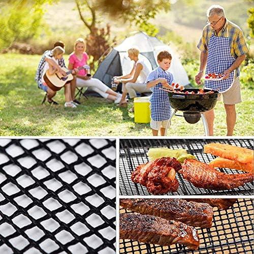 Barbecue Grill Réutilisable BBQ Mesh Mat Non-Stick Teflon Kitchen Cooking Smoker BBQ Mat Grill Pad Liner BBQ Accessories