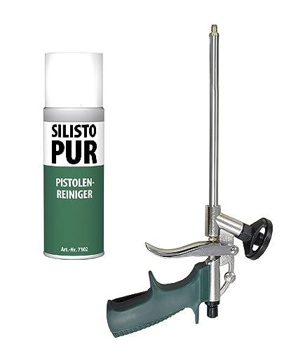 silisto Juego de espuma de poliuretano Pistola tipo Slim + 500 ml PU limpiador
