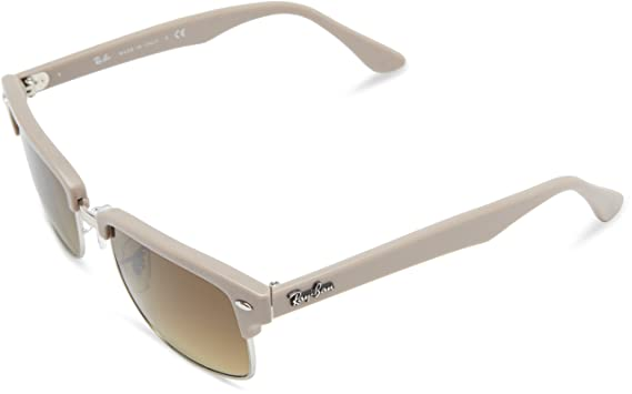 5aa1379abbc22 Ray-Ban CLUBMASTER SQUERE - DEMI GLOSS MATTE BEIGE S Frame BROWN GRADIENT  Lenses