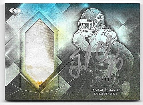 2015 Topps Diamond #JC Jamaal Charles 2 Clr Grass Stain Patch Autograph #009/150 ()