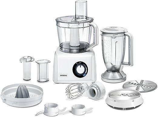 Siemens MK82020 - Procesador de alimentos compacto, color blanco: Amazon.es: Hogar