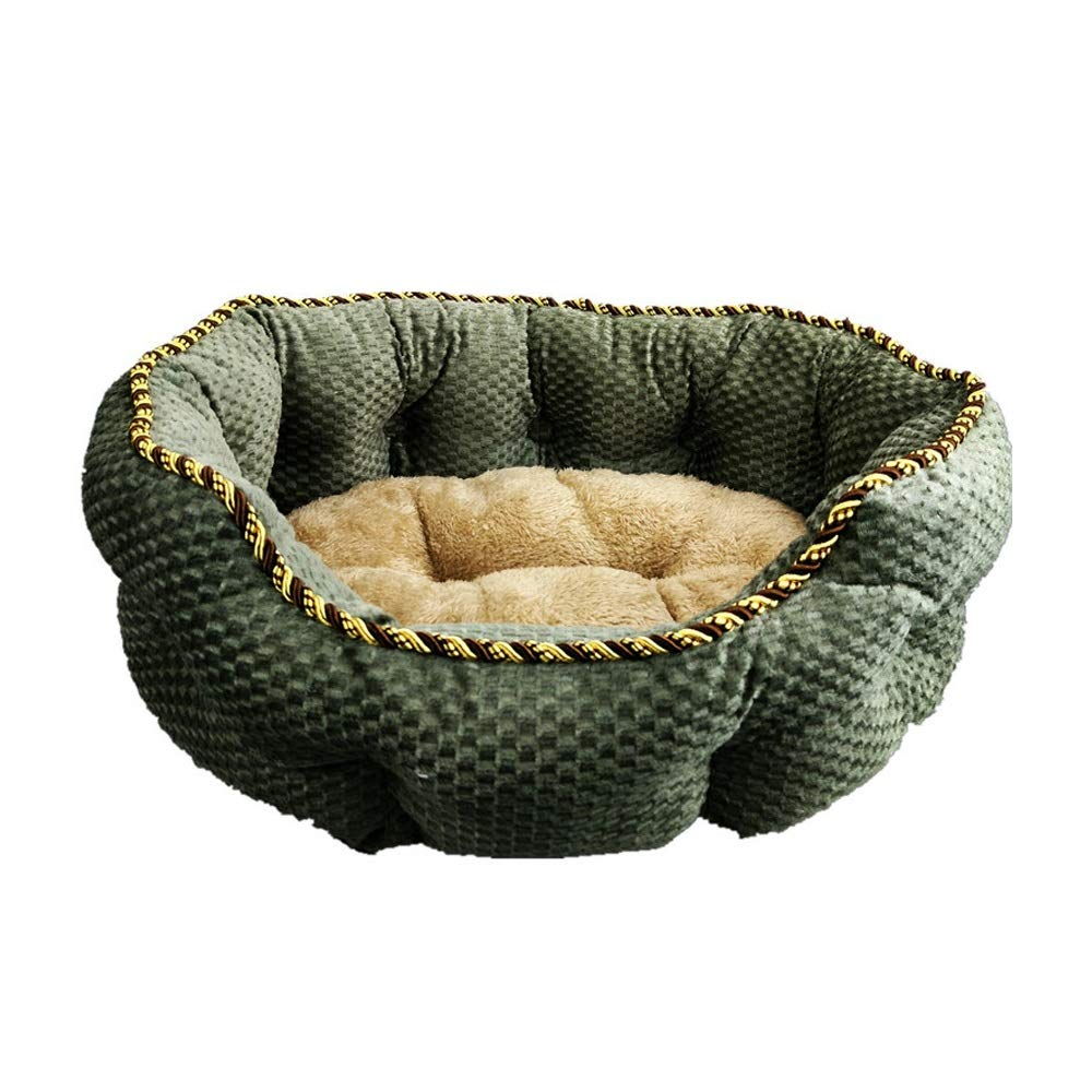 ArmyGreen S ArmyGreen S Pet Nest Cute Soft Pet Nest Anti-Skid Dog Cat Bed Off Sleeping Bag Small Pet Sleeping Pad Four Seasons Available Winter Warm (color   ArmyGreen, Size   S)