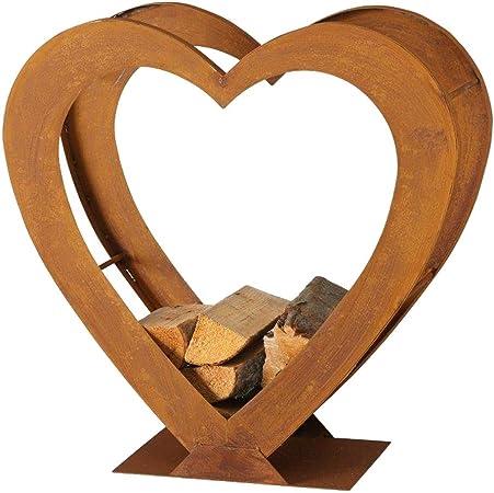 Boltze Regal Kamin Feuer Holz Aufbewahrung Stander Herz Design