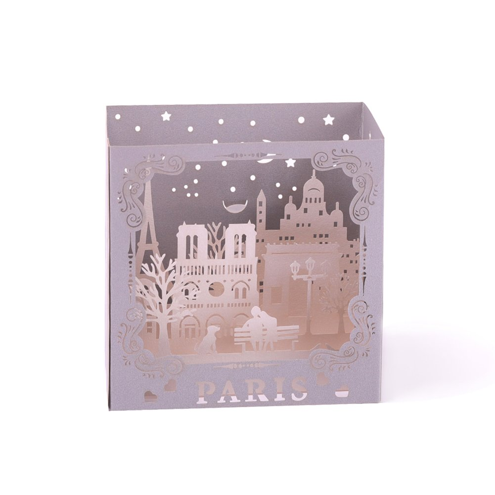 Heartmoon 3d Paris Pop Up Greeting Cards With Envelope Birthday