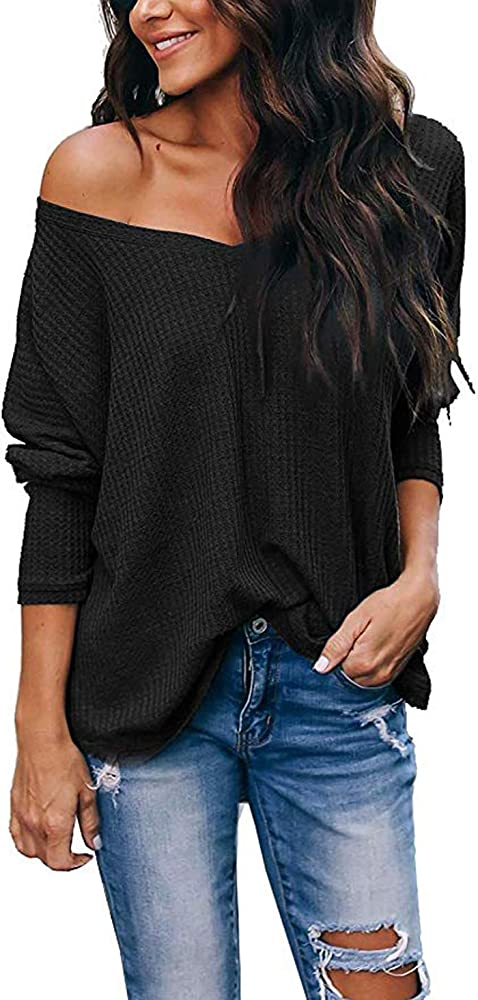 Womens Ladies Batwing Off Shoulder One Shoulder Top Long Sleeve Top Plus Sizes