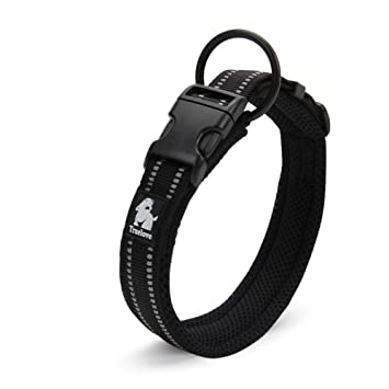 Amazon.com : Creation Core 3M Reflective Mesh Padded Dog Collar Adjustable Nylon Outdoor Adventure Pet Collar, Black XL : Pet Supplies