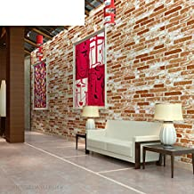 3D solid faux brick pattern brick wallpaper/Cultural brick and white tile brick living room restaurants wallpaper/ clothing store Chinese restaurant wallpapers-A