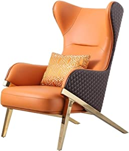 ZXQC Leather Single Sofa Chair, Leisure Lazy Recliner, Stylish and Simple Shape, Leather, Fine Workmanship, Comfortable Sitting Feeling, Household Furniture