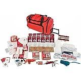Guardian Survival Family Trip Road Emergency Kit, Red Duffle Bag