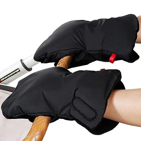 Rovtop Manoplas Carrito Bebe de Nylon Impermeable para cochecitos, coches eléctricos, manillar de bicicleta, guantes de protección de invierno prueba ...
