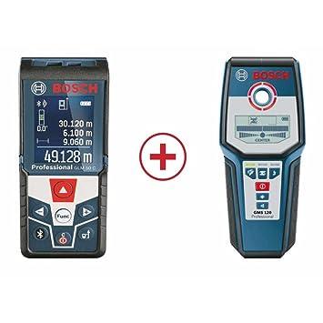 Bosch Medidor GLM 50 C Professional + GMS 120 Professional, Azul