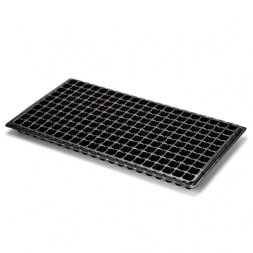 TableRe 2 Pack 200 Cells Plant Growing Trays with Drain Holes Garden Seed Starter Grow Trays, 21.25x11.02inch Upper fertile
