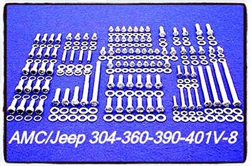 Hex Bolt Kit 239 Pieces Set Stainless Steel 290 304 343 360 390 401 V-8 - House Deals (Amc V8 Oil)