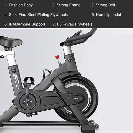 Spinning Bicicleta Ciclo Indoor Bike la Bicicleta estática Full-Wrap Segura Volantes silenciosa Correa de transmisión con Sistema de Resistencia for el hogar Cardio Entrenamiento del Entrenamiento de: Amazon.es: Hogar
