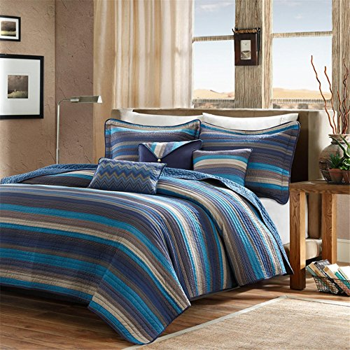blue and brown quilt - 3