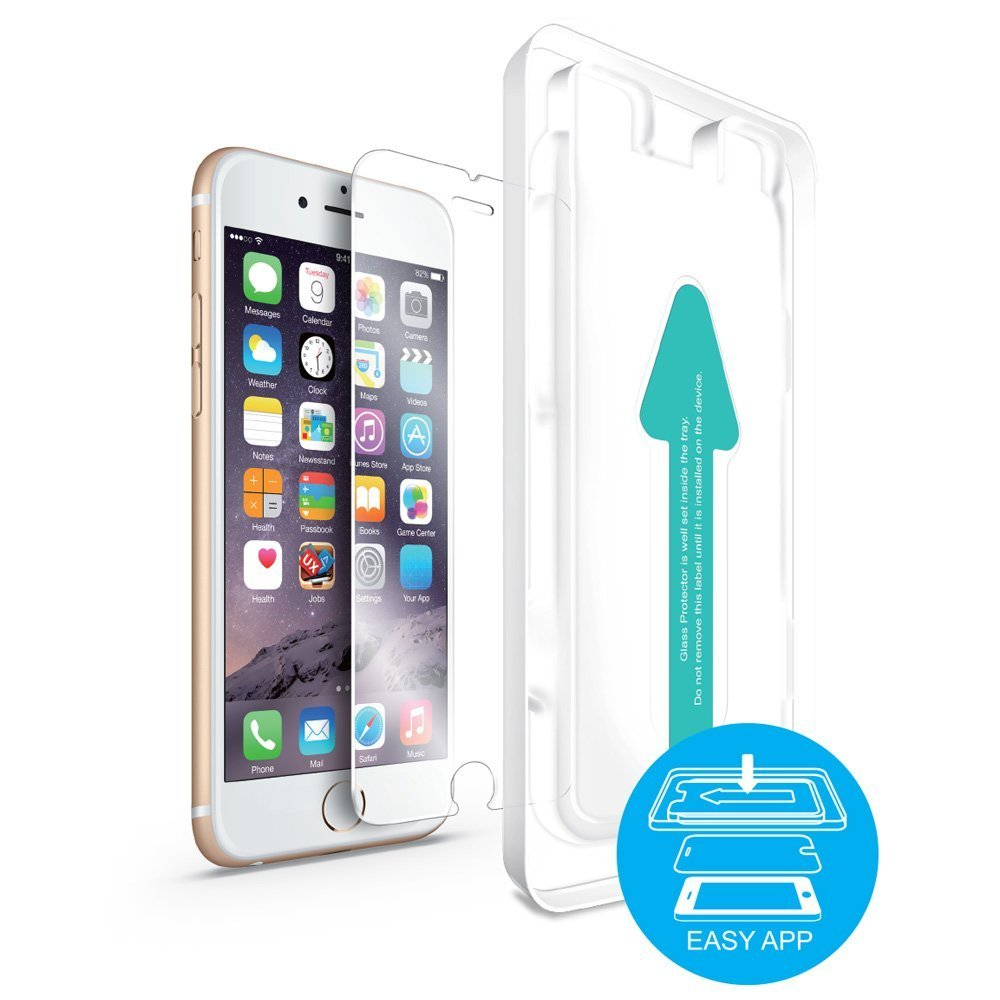 LAXTEK Tempered Glass Screen Protector for iPhone 7/8, Bubble Free 3D Touch, With Quick Easy Installation Guide Frame (Easy App) (iPhone 7/8)