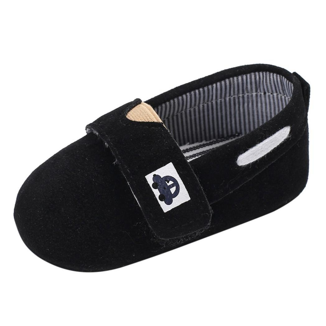 FORESTIME Baby Shoes Boy Newborn Crib Soft Soild Slip-On Flock Sole Shoe Sneakers