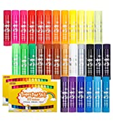 Tempera Paint Sticks, Shuttle Art 60 Pack, 2 Sets of 30 Colors Solid Tempera Paint, Washable, Sup...