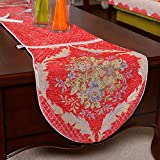 JINGJIE Table Runners embroidered dining table shoebox coffee table tv cabinet bed flag wedding banquet decoration-B 38x240cm(15x94inch)