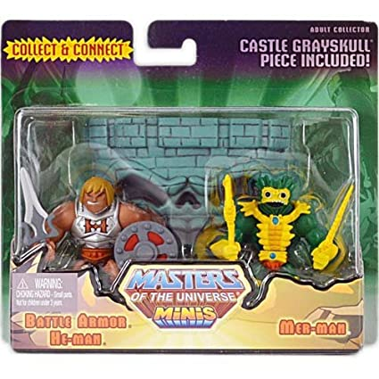 Masters of the Universe Mini/'s Collect /& Connect Battle Armor He-Man /& Mer-Man