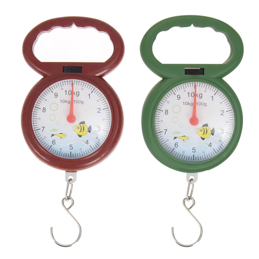 Everpert 10kg Weighing Portable Numeral Pointer Spring Balance Hanging Scale